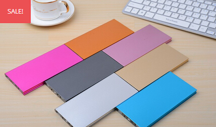 Super Slim 20000mah Portable Porket Power Bank With Colors available