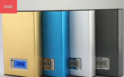 Golden high capacity dual usb portable 22000mah power bank for htc samsung iphone nokia