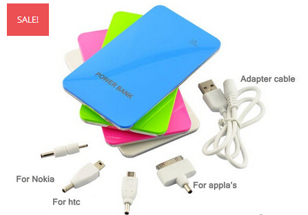 universal 8000mah power bank with two USB out