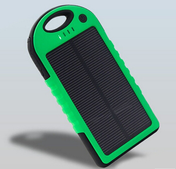 5000mah waterproof Shockproof Solar Panel Charger Power Bank