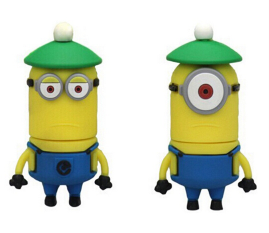 Despicable Me PVC Cute 8GB Minions USB with Free Samples