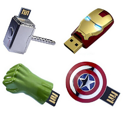 16gb 32gb 64gb 128gb avengers usb flash drive 2.0 with free sample