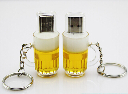 Shenzhen Low Price Promotions of Beer Cup Shape General USB Flash Drive