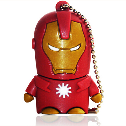 USB 2.0 3.0 Plastic Cartoon Iron Man USB Flash Drive 8GB 16GB 64GB