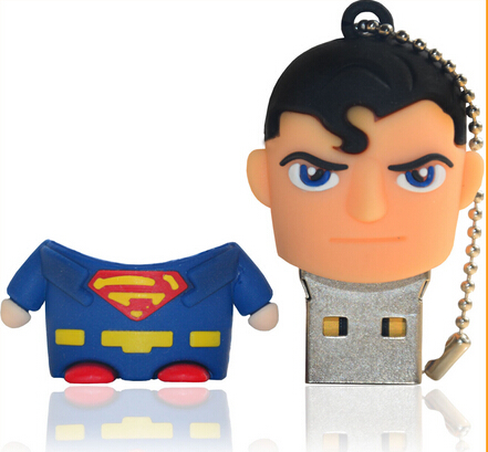 Blue Plastic Cartoon Animal Superman Superhero USB Stick 8GB