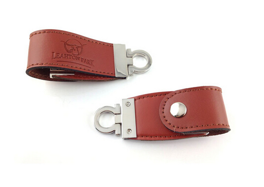 embossing logo on leather usbpromotion oem leather bracelet usb flash